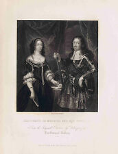 FERDINAND OF MEDICIS AND HIS CONSORT by Velasques-National Gallery 1832 w/ Bonus