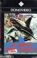 La Notte degli Squali (1988) - VHS DomoVideo 1a Ed. John Steiner Antonio Fargas