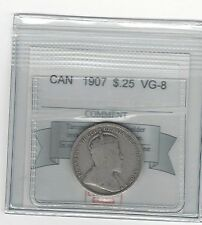 **1907**, Coin Mart Graded Canadian, 25 Cent, **VG-8**