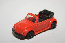 PLASTIC VW VOLKSWAGEN BEETLE KAFER CABRIOLET RED NEAR MINT CONDITION