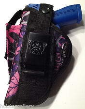Glock 28 | Muddy Girl Nylon Gun Holster OWB Pink Purple Camo