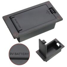 Pro Flat Mount 9V Battery Case Box Compartment Cover Electric Guitar Bass Part
