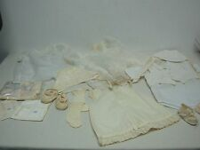 LOT OF VINTAGE 1950s BABY CLOTHES CARTERS SNAP UNDERSHIRTS BURP CLOTHS DRESSES +