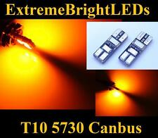 TWO Orange AMBER 2825 W5W 6-SMD 5730 Canbus Error Free LED Parking Lights #11A
