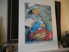 Original Watercolor Painting on Arches Aquarelle Paper iNDIAN MAN Signed MILLETT