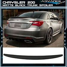 Matte Black! 11-14 Chrysler 200 4Dr Sedan OE Factory Flush Mount Trunk Spoiler