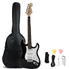 Rose Wood Fingerboard Electric Guitar Monochrome +Gigbag +Cord+Strap+Accessories