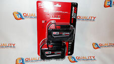 New Milwaukee 48-11-1852 M18 Red Lithium XC 18V Li-Ion Battery 5.0 Ah - One Pair
