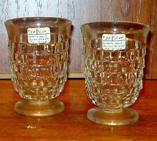 Nice Pair of Vintage White Hall Clear Juice Glasses