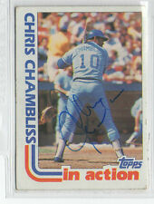 Chris Chambliss 1982 Topps In Action signed autographed card Atlanta Braves