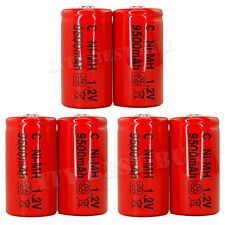 6 Size C 9500mAh Ni-MH 1.2V Volt Rechargeable Battery RED Cell HR14 Flashlight