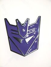 TRANSFORMERS BELT BUCKLE 2010 HASBRO Black Metal with Purple Enamel Face