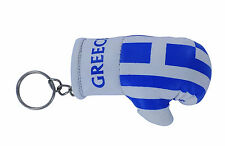 mini boxing gloves keychain keyring key chain ring leather Flag GREECE GREEK NEW