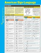 American Sign Language SparkCharts by SparkNotes Staff (2014, Merchandise,...
