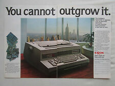 11/1981 PUB EXXON TYPEWRITER EMPIRE STATE BUILDING NEW YORK TWIN TOWERS AD