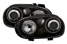 PHARES FEUX AVANT ANGEL EYES NOIR LED VW VOLKSWAGEN GOLF 4 V6 R32 1.6 16S