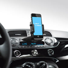 For HTC ONE DESIRE 601 Mini SILVER Car CD Slot Phone GPS MP3 Holder Mount Stand