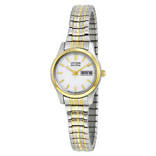 Citizen Eco-Drive Expansion White Dial Two-Tone Stainless Steel Ladies Watch