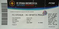 TICKET UEFA CL 2016/17 Steaua Bukarest - Sparta Prag
