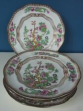 "ANTIQUE BOOTH'S SILICON CHINA ""INDIAN TREE"" #7908 - SET 6 LUNCH PLATES - 9"" 1906"