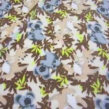 Stoff Meterware Softplüsch Fleece beige  Koala Känguruh Neu weich Winterstoff