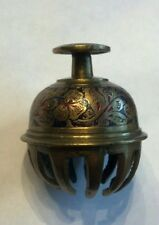 Vintage Brass Claw Bell Made in India Hand Painted Approx 2 1/2 inches tall