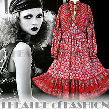 VINTAGE INDIAN DRESS JACKET WAISTCOAT 70s 8 10 12 14 16 18 HIPPY BOHO WEDDING