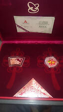 China Hase / Rabbit 2 Coin Set - 2011 - Rund, Farbe, Colour - 2x 1 oz Silber