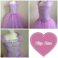 Disney inspired Repunzel/Tangled tulle tutu dress,Fairy tale ,fancy dress.
