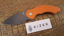 Kizer Cutlery Vanguard knife V4477A2 Matt Degnan Roach Flipper Orange VG10 Blade