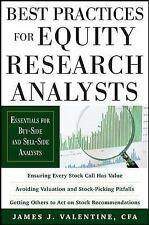 Best Practices for Equity Research Analysts Int'l Edition