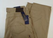 Polo Ralph Lauren 100% Cotton Chino Twill 5 Pocket Straight Fit 650 Pants NWT 89