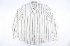 ROBERT GELLER JAPAN STRIPED IVORY BLACK MEDIUM 50 BUTTON DOWN SHIRT MENS NWT NEW