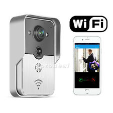 Wireless Smart WiFi Doorbell Visual Security Door Ring Camera PIR Motion Detect