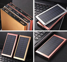 300000mAh Battery Dual USB Ultra Slim Solar Power Bank Charger
