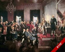 SIGNING THE US CONSTITUTION UNITED STATES HISTORY OIL PAINTING PRINTON CANVAS