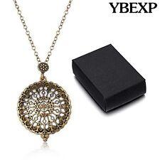 Gold Chain Unique Vintage Religious Design Magnifying Glass Pendant Necklace