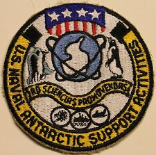 US Naval Antarctic Support Activities Antarctica Navy Patch