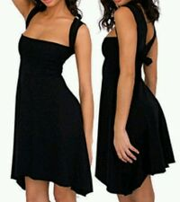 AMERICAN APPAREL multi-way Dress size XS halter neck  Black --MINT--