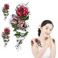 Einmal Tattoo  Fake Tattoo Sculls&Roses 17,5x7cm Medium 3 Tattos HC2020