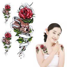 Einmal Tattoo  Fake Tattoo Sculls&Roses 17,5x7cm Medium 3 Tattos HC2020