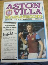 10/03/1980 Aston Villa v Wolverhampton Wanderers  (Folded, Creased, Marked, Worn
