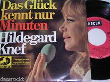 """7"""" EP Hildegrad Knef / Das Glück kennt nur Minuten Halt mich fest - MINT # 4100"""