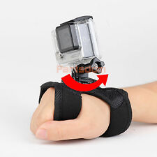 360 Rotate Hand Wrist Glove Strap Belt Holder Mount For Gopro Hero 1 2 3 3+ 4 US