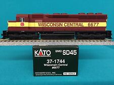 37-1744  Kato HO Scale SD45 Engine Wisconsin Central NIB