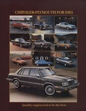 1983 Chrysler Plymouth Sales Brochure - Scamp LeBaron Imperial Gran Fury  J0314