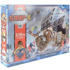 Snap-X Dark Galleon Pirate Adventures 226 Pce Build & Play Set 2in1 Construction