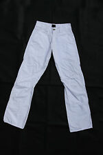 ENERGIE Sixty Trousers Women/Mens Pants White Bootcut leg Cotton W27 uk10