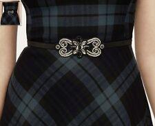 NEW!! Ann Taylor LOFT Black embellished elastic BELT Sz XS / S
