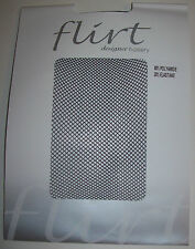 Flirt One Size Panty hose Tights BLACK FISHNET (FT20) Free UK P&P